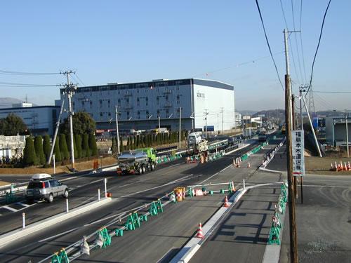 一般国道4号本宮拡幅の一部4車線...