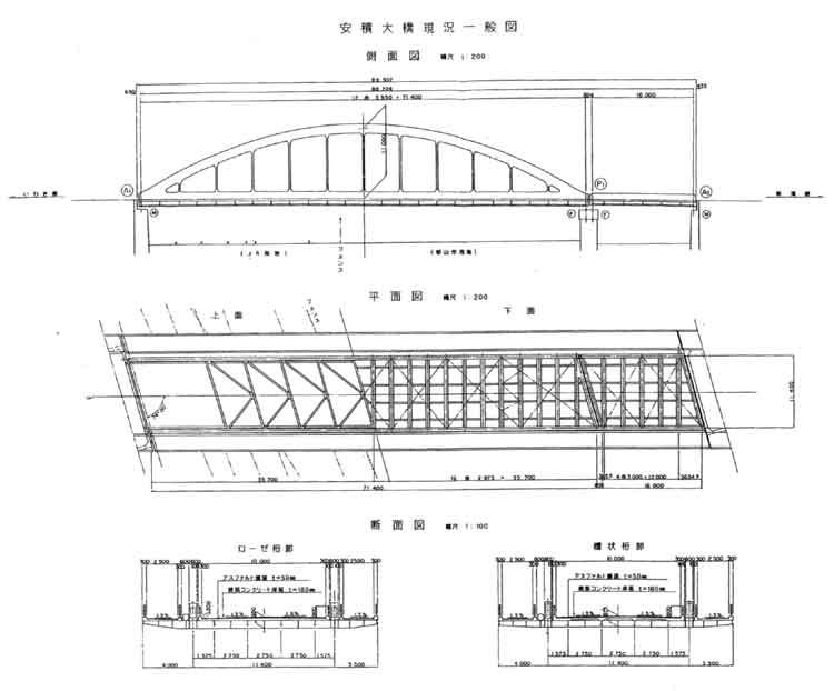 国道49号<b>安積大橋</b>の補修工事着手
