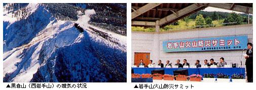 黒倉山の噴気の状況・岩手山火山防災サミット
