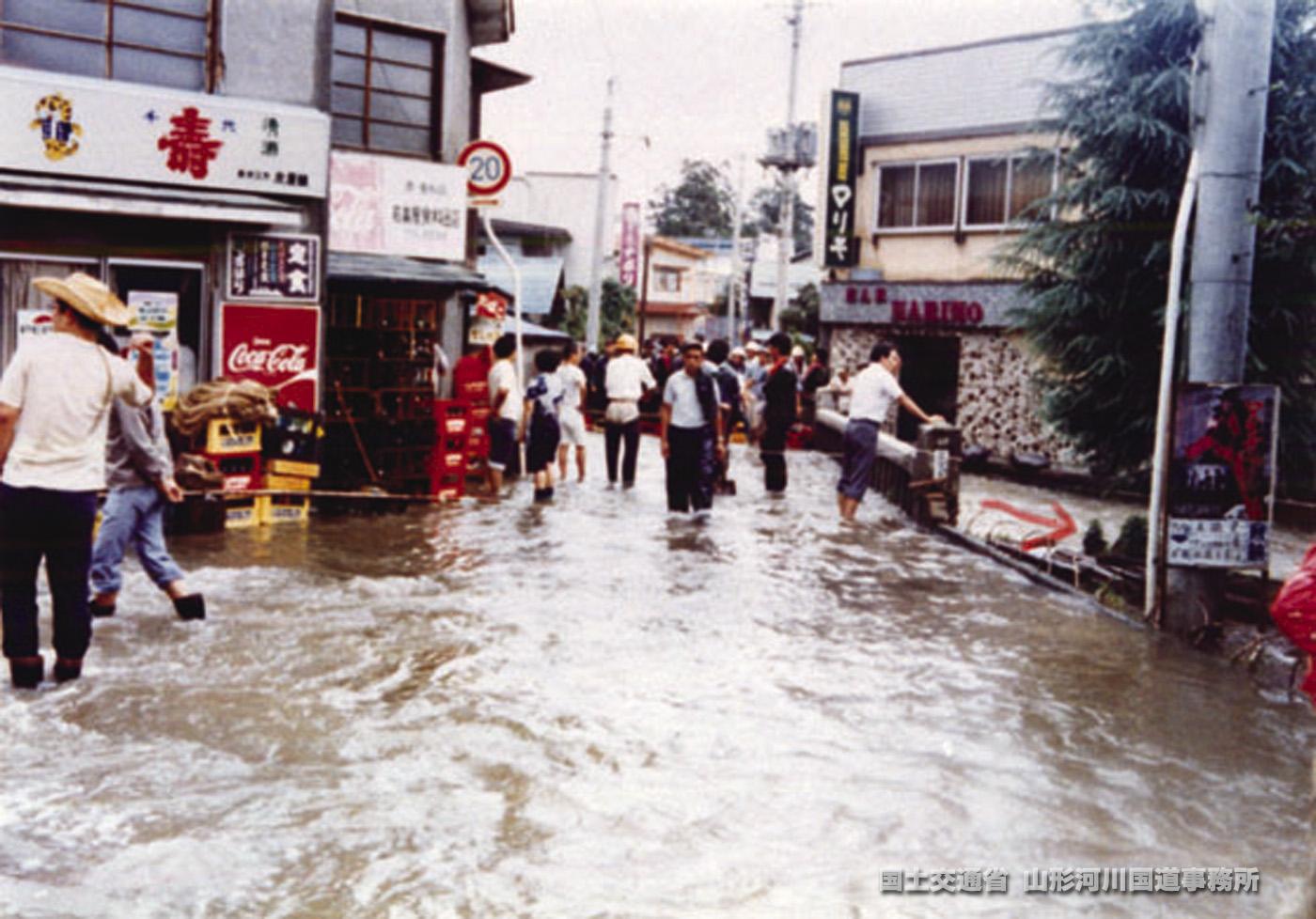 県内の水害写真(昭和50年~)