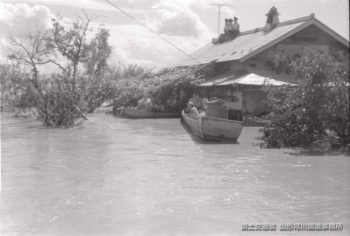 河北町|写真|羽越水害アーカイブ 〜忘れない、水害への備え〜
